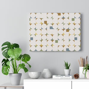 Cooper Mid Century Modern Wrapped Canvas in Brown