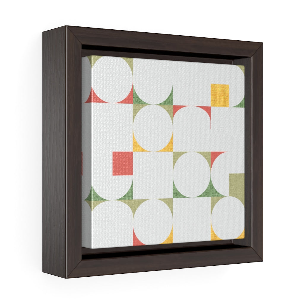 Cooper Mid Century Modern Framed Gallery Wrap Canvas in Green