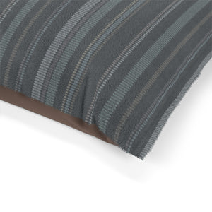 Santa Fe Stripe Pet Bed in Gray