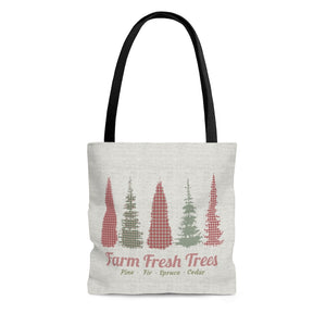 Farm Fresh Tote Bag in Red