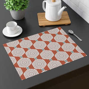 Lace Hexagon Placemat in Orange