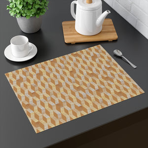 Watercolor Chevron Placemat in Orange
