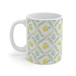Lemon Tile Mug in Green