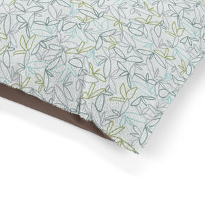 Sketch Leaf Pet Bed in Teal