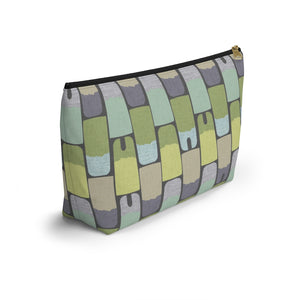 Popsicles Accessory Pouch w T-bottom in Green