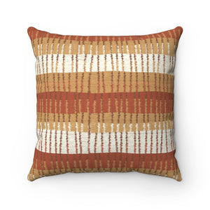 Bryce Canyon Square Throw Pillow in Orange