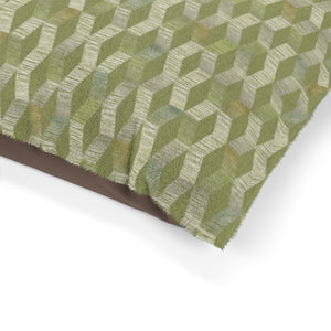 Watercolor Chevron Pet Bed in Green