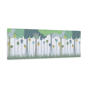 Backyard Fun Wrapped Canvas in Aqua