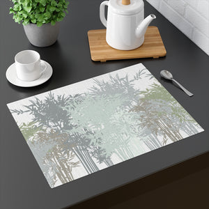 Lucky Bamboo Placemat in Gray