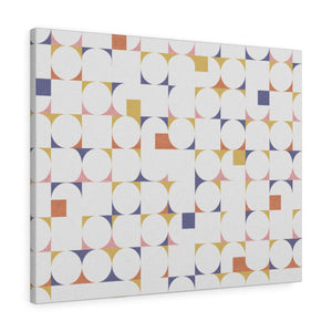 Cooper Mid Century Modern Wrapped Canvas in Gold