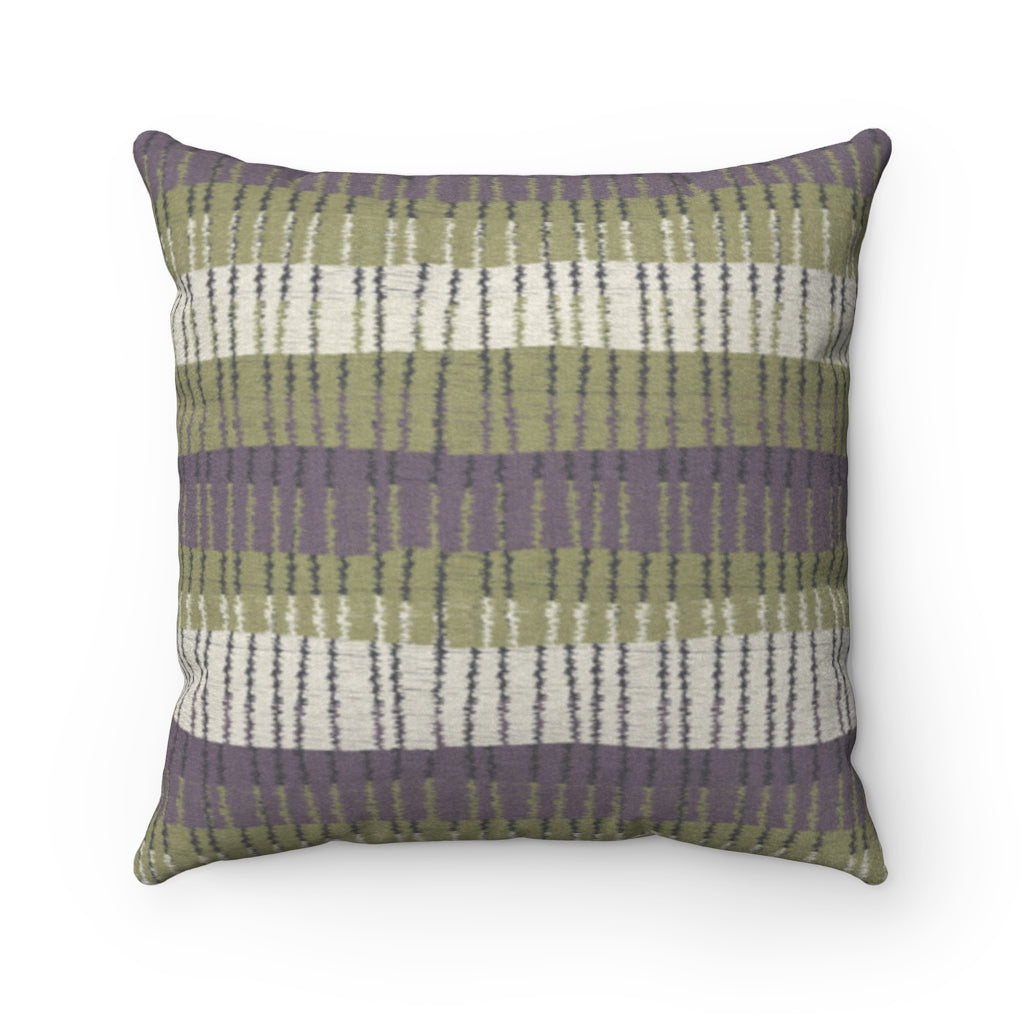 Bryce Canyon Square Throw Pillow in Green
