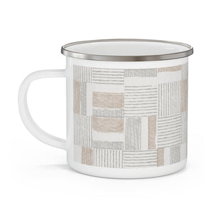 Block Pal Enamel Mug in Brown