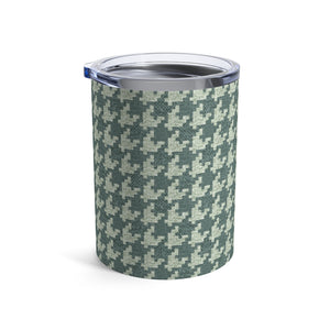 Textured Houndstooth Tumbler in Green