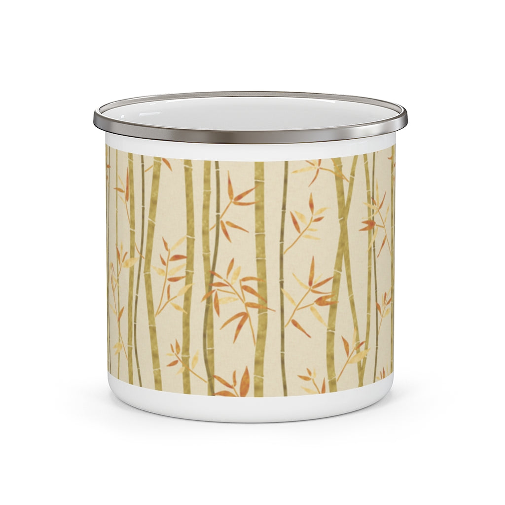 Bamboo Enamel Mug in Gold