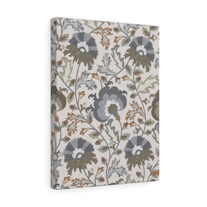 Botanical Garden Wrapped Canvas in Taupe