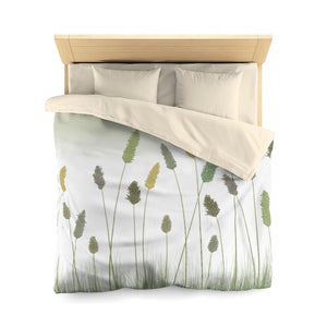 Prairie Microfiber Duvet Cover in Green