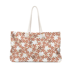 Snowbell Weekender Bag in Coral