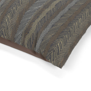 Cross Hatch Stripe Pet Bed in Brown