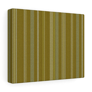 Santa Fe Stripe Wrapped Canvas in Gold