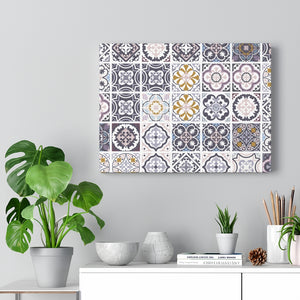 Seville Square Wrapped Canvas in Purple