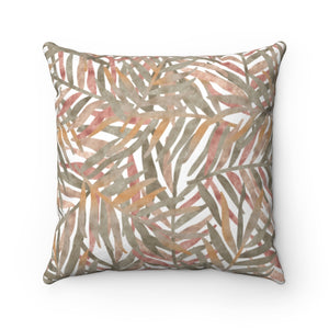 Tropic Square Throw Pillow in Pink