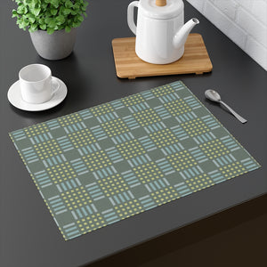 Modern Plaid Placemat in Teal