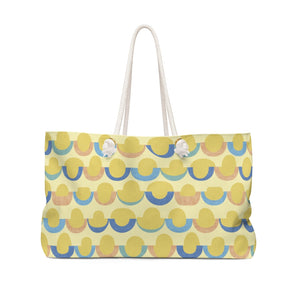 Half Moons Weekender Bag in Yellow