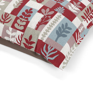 Botanical Paper Pet Bed in Red