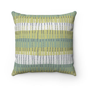 Bryce Canyon Square Throw Pillow in Aqua