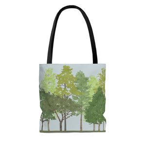 Walk in the Woods Tote Bag in Green