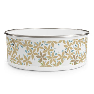 Snowbell Enamel Bowl in Gold