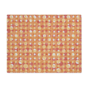 Ikat Texture Overlay Placemat in Orange