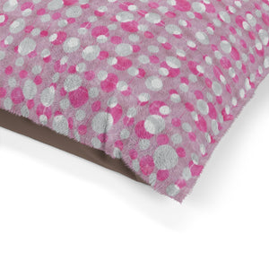 Ikat Texture Overlay Pet Bed in Pink