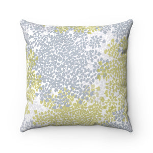 Queen Anne's Lace Square Throw Pillow in Gray