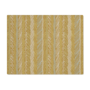 Cross Hatch Stripe Placemat in Gold