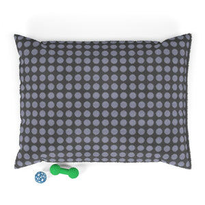 Double Ikat Dot Pet Bed in Blue