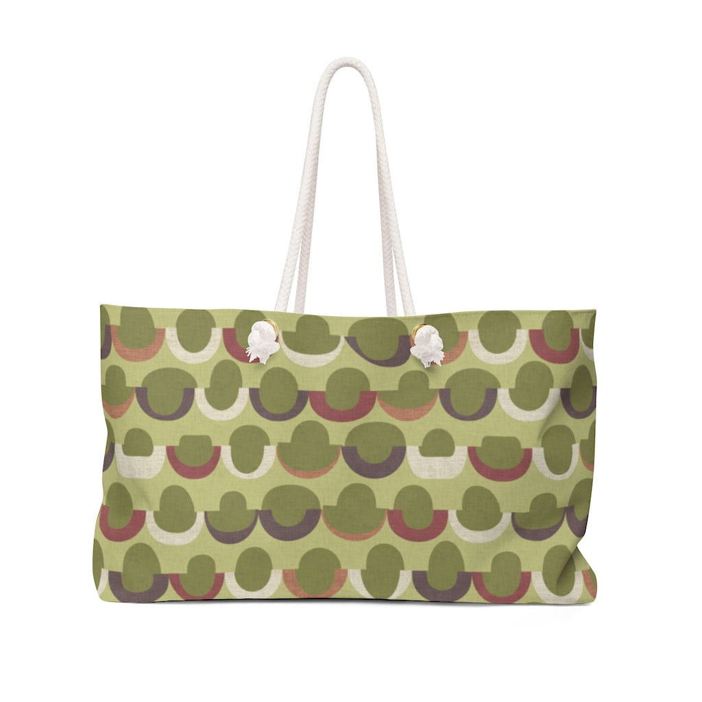 Half Moons Weekender Bag in Green