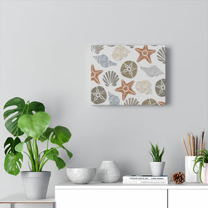 Sanibel Island Wrapped Canvas in Brown