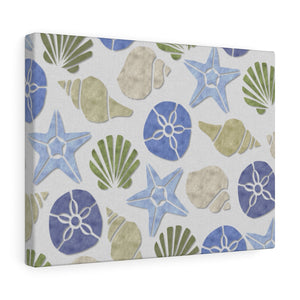 Sanibel Island Wrapped Canvas in Blue