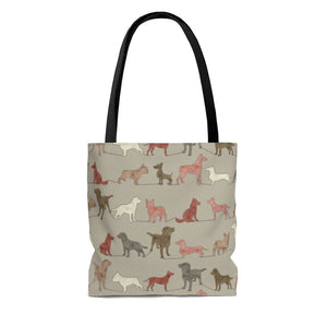 Dogs Tote Bag in Pink