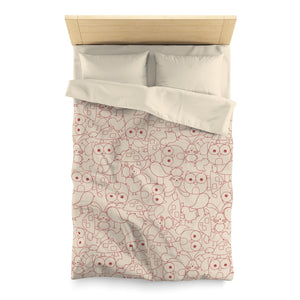 Cute Critters Microfiber Duvet Cover in Peach
