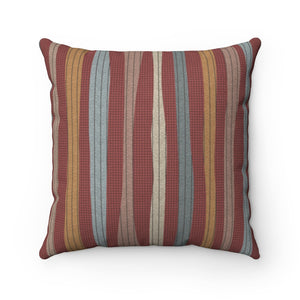 Amazing Stripe Square Throw Pillow in Red