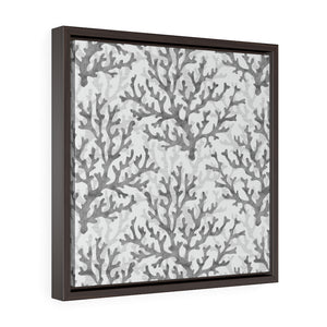 Coral Framed Gallery Wrap Canvas in Gray