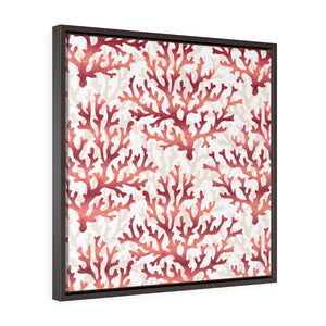 Coral Framed Gallery Wrap Canvas in Red
