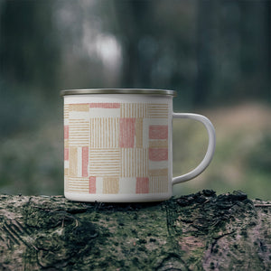 Block Pal Enamel Mug in Coral