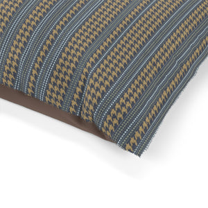 Houndstooth Stripe Pet Bed in Navy