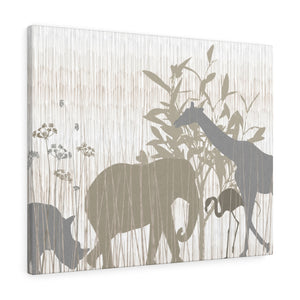 Safari Wrapped Canvas in Brown