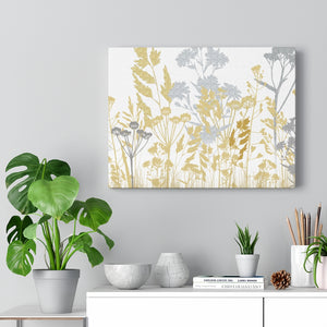 Springtime Wrapped Canvas in Gold