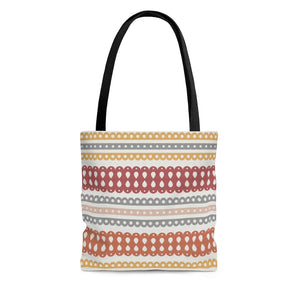 Ribbon Candy Tote Bag in Red
