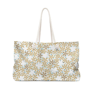 Snowbell Weekender Bag in Gold
